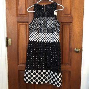 Sleeveless Black and White Dress Just Taylor